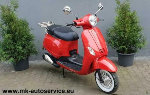 ⭐Wunderschöner Retro Roller MKA Classico in Rot 125ccm EURO 4⭐