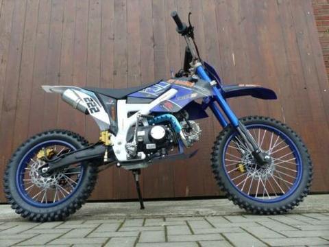 125ccm Dirtbike KXD 612 4 Takt 17/14 Enduro Cross Motorrad Blau